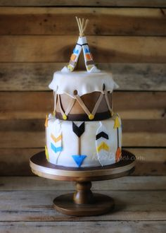 TeePee Wild Indian Cake