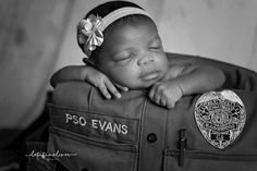 black and white baby photo session of the daughter of a African American police officer Black And White Baby, Police Officer, Photo Sessions, Baby Photos, Daughter, African, Photography, Photograph, Toddler Photos