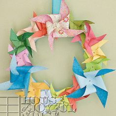 Get those childhood summer memories spinning by making a Pretty Pinwheel Wreath.