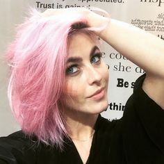 """Julianne Hough Dyes Hair """"Unicorn"""" Pink Days Before Coachella—See the Pic!  Julianne Hough, Pink Hair, Instagram"""