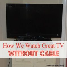 Would you consider cutting cable to save money?  We canceled cable, saved over $50/month, and still watch great TV and everyone in the family survived!