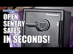 Open Sentry Safe In Seconds With Black Box Electronic Safe, Wood Repair, Grey Hat, Combination Locks, Black Box, Survival Prepping, Good To Know, Lock Picking, Learning