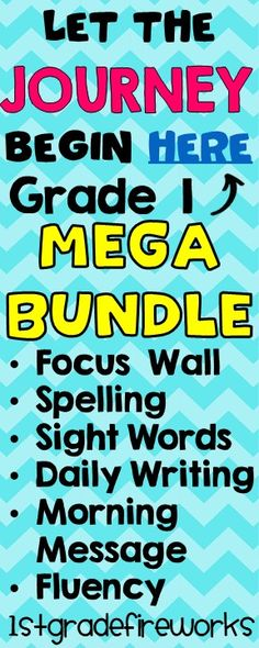 Are YOU on the JOURNEY to find high quality curriculum support? Grade 1 MEGA BUNDLE!-Spelling for the YEAR Weekly Spelling Lists for the Entire YEAR -Focal Wall Printables - ALL Units (for the year) 300+ pages for ALL components of the Journeys Focal Wall ( can be used for supplementing other programs ... including homeschool programs )  - 100 HFW cards  Includes Units 1 - 6 -Daily PROOFREADING Practice 80 student pages for the YEAR! Editing practice. -Morning Message Units 1-6 Focal Wall…