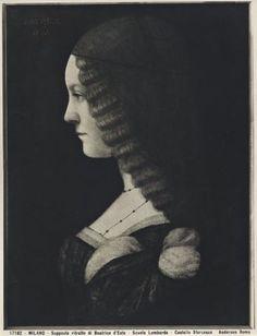 Anderson, Milan - Supposed portrait of Beatrice d'Este - Lombard School - Castello Sforzesco - Zeri Foundation