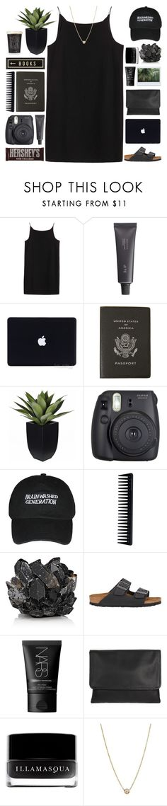 """brainwashed generation"" by indie-by-heart ❤ liked on Polyvore featuring T By Alexander Wang, Bite, Smythson, Fuji, Wedgwood, GHD, McCoy Design, Hershey's, Birkenstock and NARS Cosmetics"