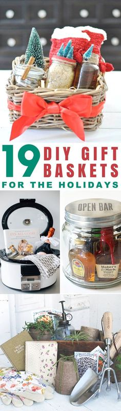 These 19 Gift Baskets Are Too CUTE! I love the ideas for Christmas, Birthdays and other special occasions! Definitely an easy DIY for anyone who needs present ideas!