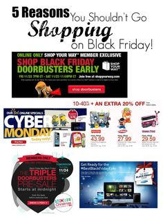 Black Friday Shopping Tips! Why You Shouldn't go Shopping on Black Friday!