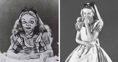 Old Photos Reveal How Disney Animators Used A Real-Life Model to Draw Alice In Wonderland
