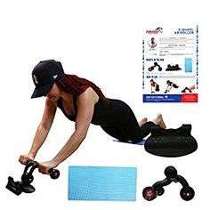 Sports & Entertainment Self-Conscious Workout Abdominal Back Gym Fitness Shoulders Easy Glide Padded Handles Exercise Double Arms Strength Roller Wheel Transportable Fancy Colours Ab Rollers