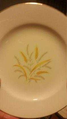 Check out this item in my Etsy shop https://www.etsy.com/listing/519391765/2-golden-harvest-saucers