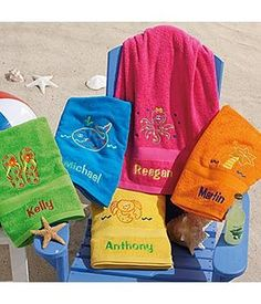 Beach Towels for Kids – Personalized Colorful Beac #beach   Beach Towels for…
