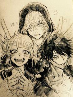 My Hero Academia (僕のヒーローアカデミア) - Tomura Shigaraki, Dabi, Himiko Toga My Hero Academia Memes, Hero Academia Characters, Buko No Hero Academia, My Hero Academia Manga, Otaku Anime, Manga Anime, Anime Art, Anime Angel, Animé Fan Art