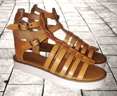 Gladiator sandals with chunky sole