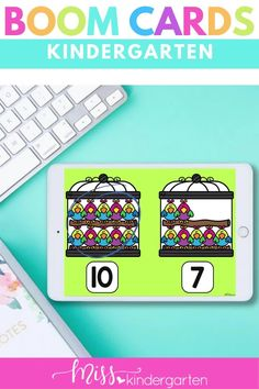 Digital Activities Kindergarten for Math Boom Cards. Students will practice comparing numbers with these digital activities. This is part of a mega boom card kindergarten digital bundle. Number Sense Activities, Kindergarten Math Activities, Math Literacy, Hands On Activities, Comparing Numbers, Numbers 1 10, Daily Math, Student Motivation, Task Cards