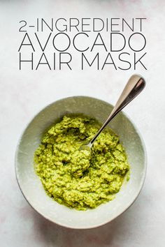 DIY 2-Ingredient Avocado Hair Mask - A Thousand Lights
