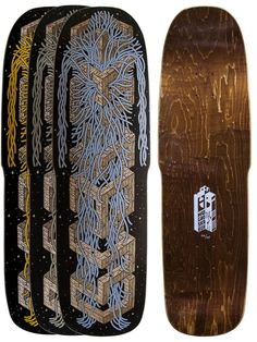 Limited edition skate decks, illustration by Jesse Jacobs