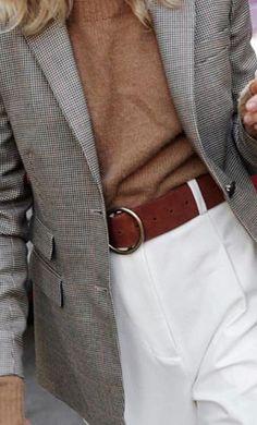Hues plus brown leather belt