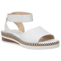 New Womens Vince Camuto White Mariena Leather Sandals Wedge  | eBay
