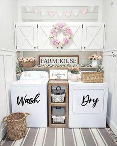 Laundry Room Remodel, Laundry Decor, Laundry Room Organization, Laundry Room Design, Laundry Closet, Laundry Room Colors, Basement Laundry, Organizing, Farmhouse Laundry Room