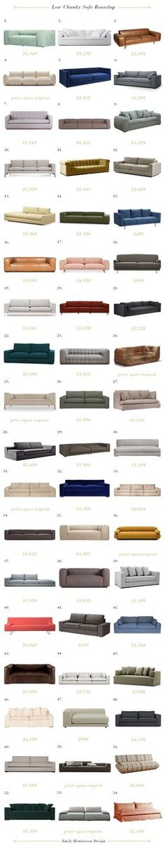 54 chunky, low (and affordable) sofas to make you and your butt happy.