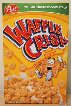 Post Waffle Crisp Sweetened Multi-Grain Cereal Oz Box No High Fructose Corn Best Cereal, Kids Cereal, Cereal Boxes, Gourmet Recipes, Snack Recipes, Snacks, Top Recipes, Waffle Crisp Cereal, Types Of Cereal