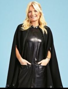 Leather Mini Dress, Leather Pants, Capes, Leather Fashion, Dresses With Sleeves, Female, Celebrities, Long Sleeve, Outfits