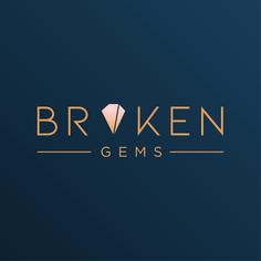 Broken Gems logo design for jewellery designer who creates new work from cracked or imperfect stones. #cleanlogo #minimallogo #jewellerylogo #logonew #logodesigner #logoinspo