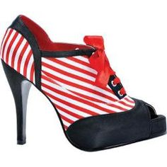 @Overstock - The Polly shoe features a striped ribbon lace-up upper, a concealed platform and a peep toe.http://www.overstock.com/Clothing-Shoes/Womens-Bettie-Page-Polly-White-Red/7487017/product.html?CID=214117 $26.95