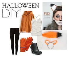 """""""What the Fox Say? DIY Fox Costume"""" by brokenspiderwebb ❤ liked on Polyvore featuring Dorothy Perkins, Hollister Co. and Fergalicious"""