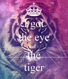 I got the eye of the tiger #keepcalm