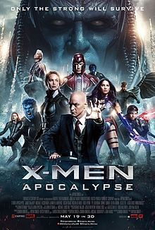 X-Men: Apocalypse is a 2016 American superhero film based on the fictional X-Men characters that appear in Marvel Comics. It is the ninth installment in the X-Men film series and a sequel to X-Men: Days of Future Past. Directed by Bryan Singer, with a screenplay by Simon Kinberg from a story conceived by Singer, Kinberg, Michael Dougherty, and Dan Harris, the film stars an ensemble cast, led by James McAvoy, Michael Fassbender, Jennifer Lawrence, Oscar Isaac, Nicholas Hoult, Rose Byrne, Tye…