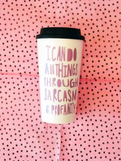 Mommas and corporate America alike know this mug to be all to true. Sarcasm, profanity, and coffee are our saving grace. Dont forget to grab one