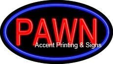 Pawn Flashing Handcrafted Real GlassTube Neon Sign