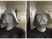 Star Wars - Darth Vader de tamaño natural del casco Papercraft Ver.4 Plantilla Descarga gratis