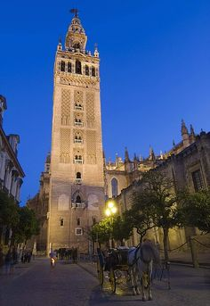 La giralda es un parte de la catedral de Sevilla y cuando Ana y los Marcos pasaron la torre giralda Ana pensaba que la catedral era muy grande y elegante.