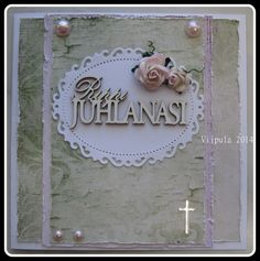 Konfirmaatio Stamping, Crafting, Frame, Cards, Handmade, Decor, Picture Frame, Hand Made, Decoration