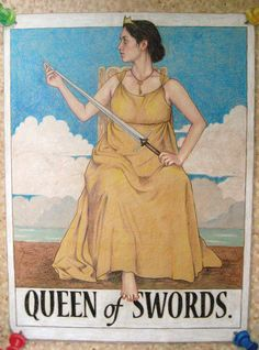 choosing a course of action takes a lot of thinking.  queen of swords by *gurliebot on deviantART