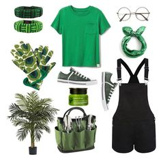 """Get the gardening vibes"" by pogopug123 ❤ liked on Polyvore featuring Nearly Natural, NOVICA, Picnic at Ascot, Converse and Innisfree"