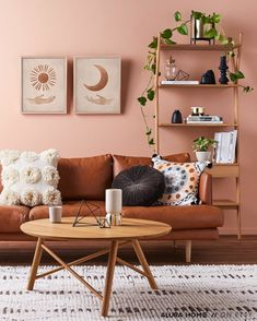 Living Room Paint, Living Room Colors, New Living Room, Living Room Furniture, Brown Furniture, Furniture Decor, Living Room Decor Brown Couch, Brown Wall Decor, Furniture Movers