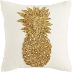Pier 1 Imports Tropical Beaded Pineapple Velvet Pillow ($32) ❤ liked on Polyvore featuring home, home decor, throw pillows, velvet throw pillows, pier 1 imports, beaded accent pillows, pineapple home decor and ivory throw pillows