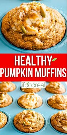 Healthy Pumpkin Muffins with whole wheat or spelt flour, maple syrup and a tad of cream cheese. Breakfast or a snack, these pumpkin muffins are easy, tasty and warm with Fall spices.