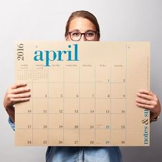 Our best-selling academic calendar features bold color combined with clean style printed on oversized sheets of our 100% recycled Paper Bag. Write appointments and notes over 17-months (each month fea