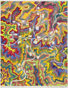 christiesauctions:  Fred Tomaselli (b. 1956)Map of New Jerusalem, U.S.A. First Open: Summer Edition
