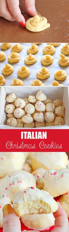 special desserts recipes, christmas desserts recipes, gluten free christmas dessert recipes - These Italian Christmas cookies have become a favorite Christmas recipe at our house. Try them and see for yourself how delicious they are! Cookie Desserts, Holiday Desserts, Holiday Baking, Holiday Recipes, Dessert Recipes, Dinner Recipes, Christmas Recipes, Italian Christmas Cookies, Christmas Sweets