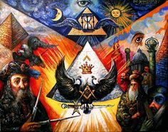 The Art, Masonic Aprons, and Magic of Ari Roussimoff, 2016 Illuminati Secrets, Masonic Art, Masonic Symbols, Freemason Symbol, Gothic Crosses, Black Jesus, Evil Empire, Freemasonry, Backen