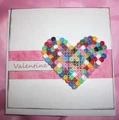 card using hama beads