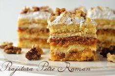 Prajitura Petre Roman - Retete culinare by Teo's Kitchen Krispie Treats, Rice Krispies, Sweets Recipes, Desserts, Dessert Drinks, Roman, Caramel, Ethnic Recipes, Kitchen