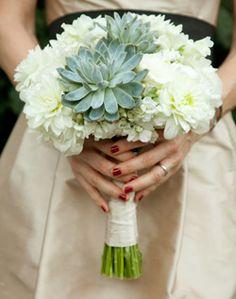 bouquete novia con suculenta