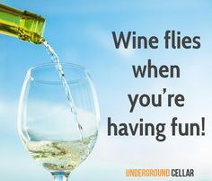Wine flies when you're having fun!