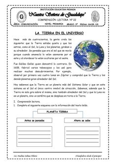 Publishing platform for digital magazines, interactive publications and online catalogs. Title: Comprension Lectora 22 Semana Author: Length: 2 pages, Published: Spanish Language Learning, Sistema Solar, Bullet Journal, Digital Magazine, Homeschool, Author, Science, Education, Reading